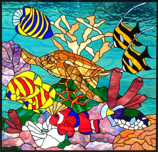 1000 images about stained glass fish other marine for Stained glass fish patterns